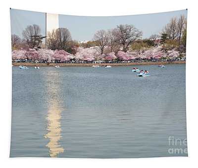 Paddleboating At Cherry Blossom Time In Washington Dc Tapestry