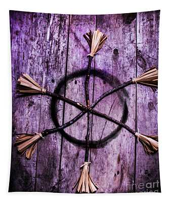 Pagan Or Witchcraft Symbol For A Gathering Tapestry