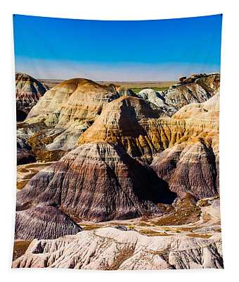 Painted Desert Yellow Bands Tapestry