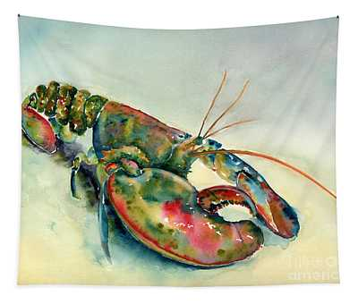 Painted Lobster Tapestry