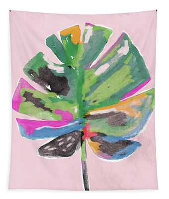 Painted Palm Leaf 2- Art By Linda Woods Tapestry