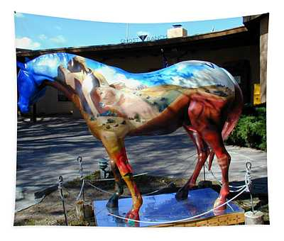 Tapestry featuring the photograph Painted Pony At Ghost Ranch by Joseph R Luciano