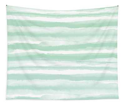 Painterly Beach Stripe 2- Art By Linda Woods Tapestry