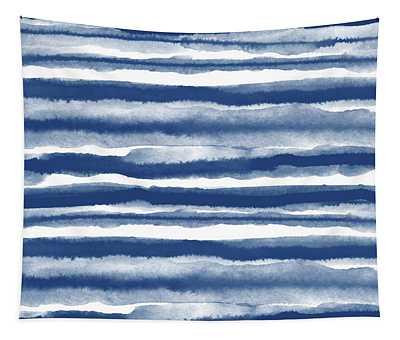 Painterly Beach Stripe 3- Art By Linda Woods Tapestry