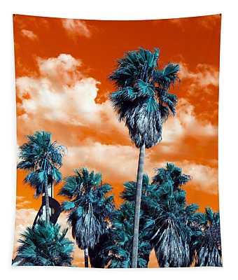 Palm Pop Art Tapestry