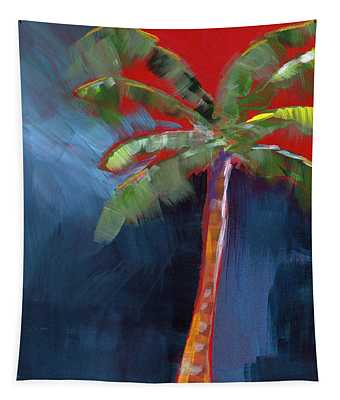 Palm Tree- Art By Linda Woods Tapestry