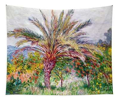 Palm Tree At Bordighera Tapestry