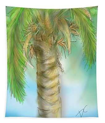 Palm Tree Study Two Tapestry
