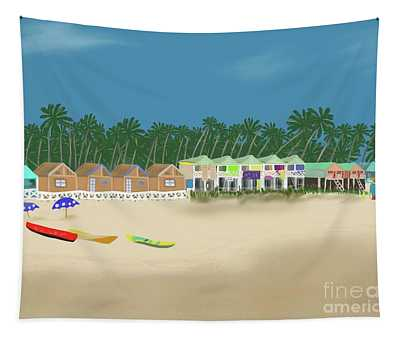 Palolem Beach Goa Tapestry
