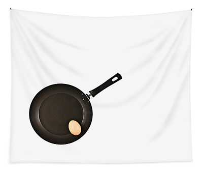 Pan With Egg Tapestry