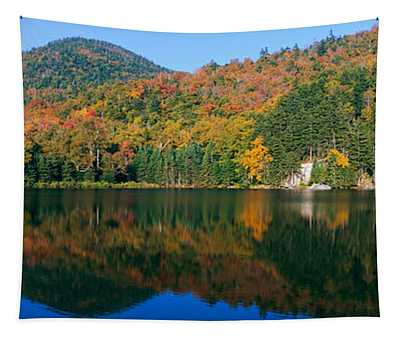 Panoramic View Of Crawford Notch State Tapestry