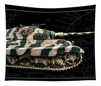 Panzer Tiger II Side Bk Bg Tapestry