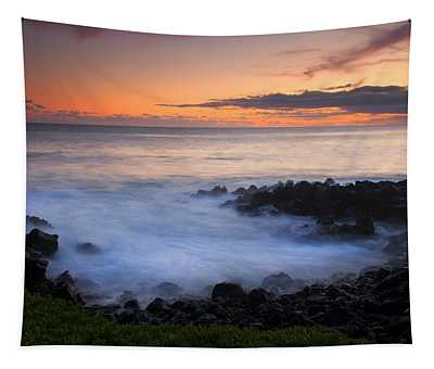 Paradise Cove Sunset Tapestry