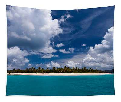 Paradise Is Sandy Cay Tapestry