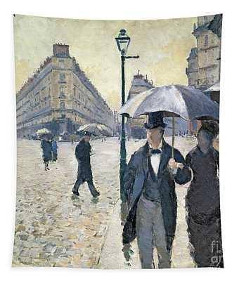 Paris A Rainy Day Tapestry