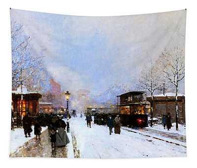 Paris In Winter Tapestry