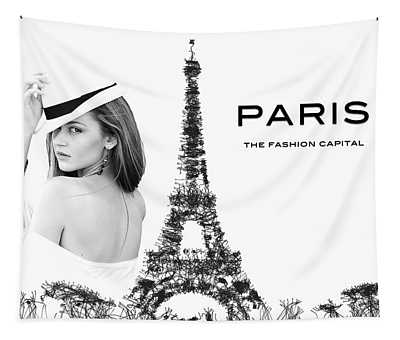 Paris The Fashion Capital Tapestry