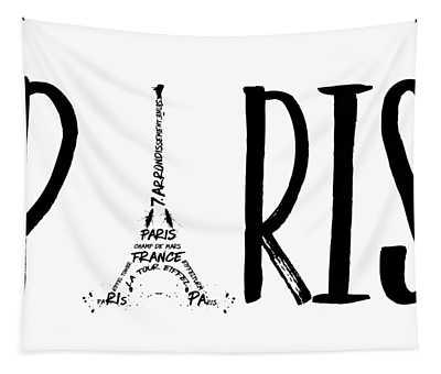 Paris Typography Tapestry