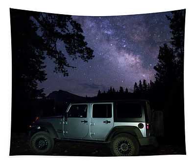 Parked Under The Milky Way  Tapestry