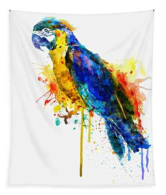 Parrot Watercolor  Tapestry