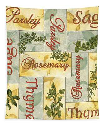 Parsley Collage Tapestry