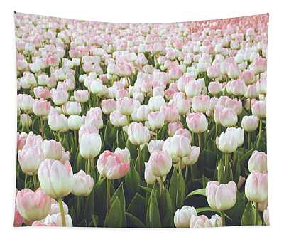 Pastel Pink Tulips- Art By Linda Woods Tapestry