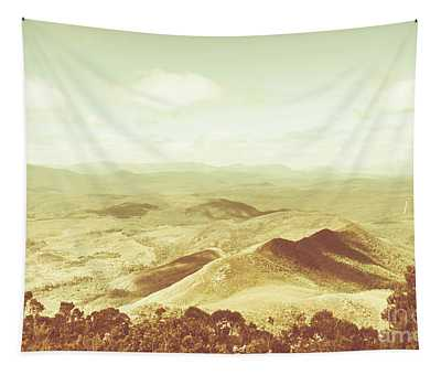 Pastel Tone Mountains Tapestry