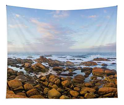 Pastel Tone Seaside Sunrise Tapestry