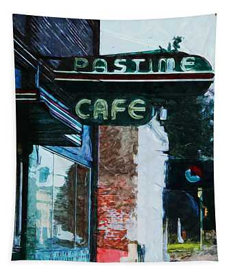 Pastime Cafe- Art By Linda Woods Tapestry