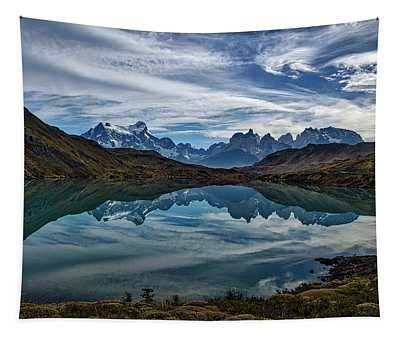Patagonia Lake Reflection - Chile Tapestry