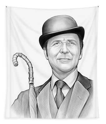 Patrick Macnee Tapestry