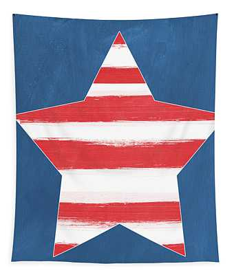 Patriotic Star Tapestry
