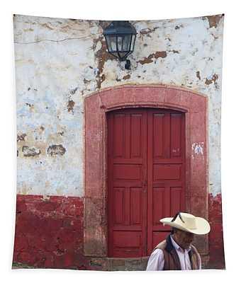 Patzcuaro Street Scene Tapestry