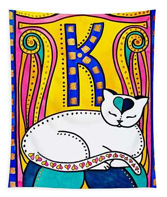 Peace And Love - Cat Art By Dora Hathazi Mendes Tapestry