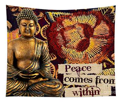 Peace Comes From Within. Buddha Tapestry