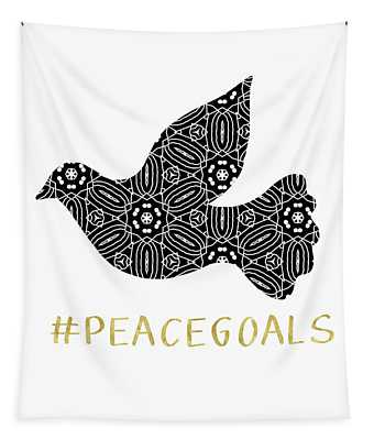 Peace Goals- Art By Linda Woods Tapestry