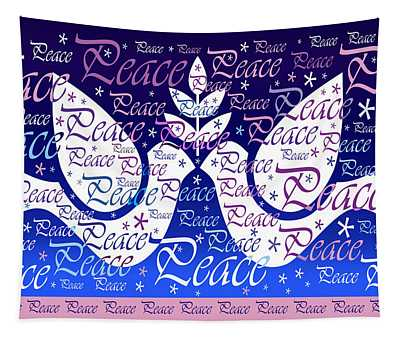 Peace Holiday Card Tapestry