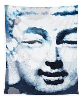 Peaceful Buddha 2- Art By Linda Woods Tapestry
