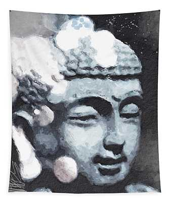 Peaceful Buddha 3- Art By Linda Woods Tapestry