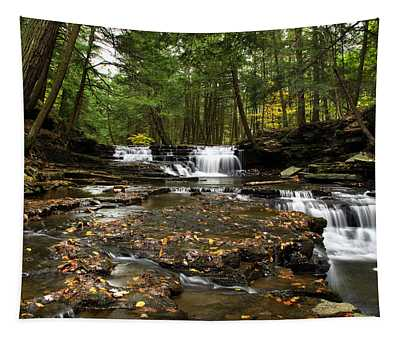 Peaceful Flowing Falls Tapestry