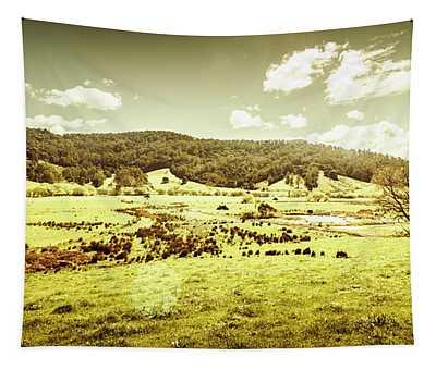 Peaceful Panoramic Pasture Tapestry