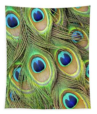 Living Peacock Abstract Tapestry