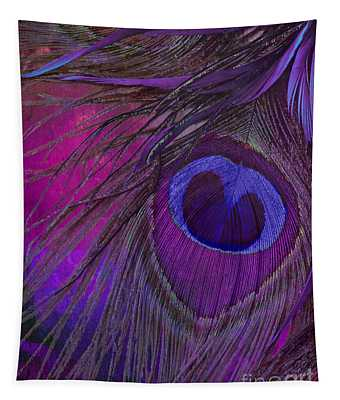 Peacock Candy Purple  Tapestry
