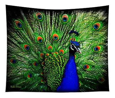 Peacock Paradise Tapestry