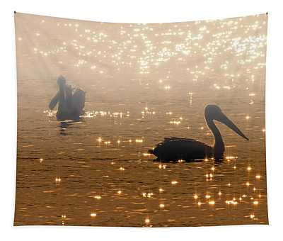 Pelican Sunrise Tapestry