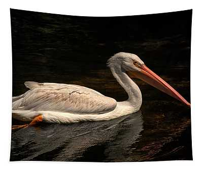 Pelican Swimming In Salisbury Tapestry