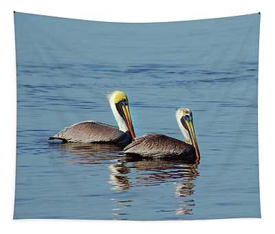Pelicans 2 Together Tapestry
