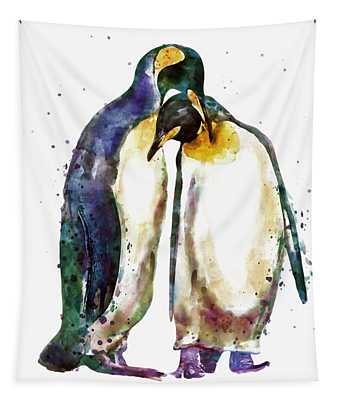 Penguin Couple Tapestry
