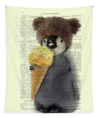 Penguin Ice Cream Tapestry