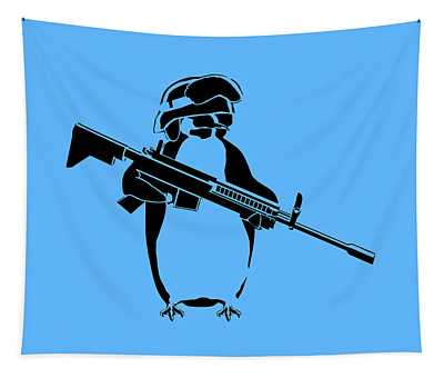 Penguin Soldier Tapestry